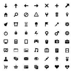 Set of 56 vector icons
