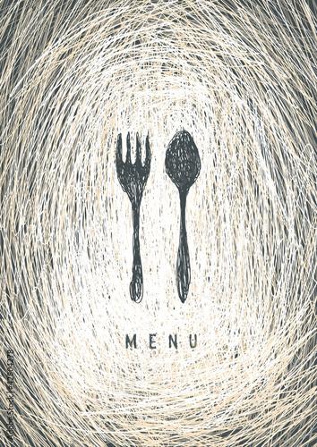 art-restaurant-menu-concept-design-wektor