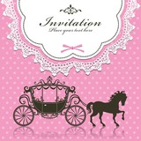 Vintage Invitation Luxury carriage design