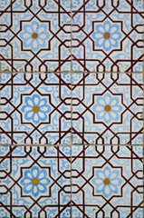 Traditional colored decorative tiles