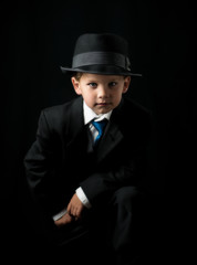 Serious Child in Suit