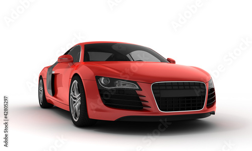 Tuinposter Snelle auto s red sportscar