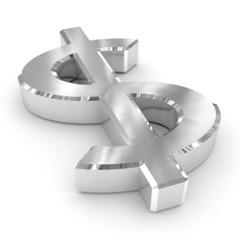 dollaro argento 3d