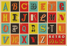 Retro Collection Letters