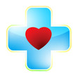 Heart medical cross. EPS 8