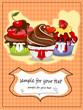 Muffin, Cupcakes Karte mit Textfeld