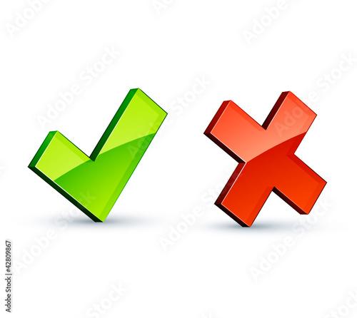 icône validation annulation
