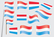 set of flags of Luxembourg vector illustration