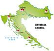 Internetkarte von Kroatien