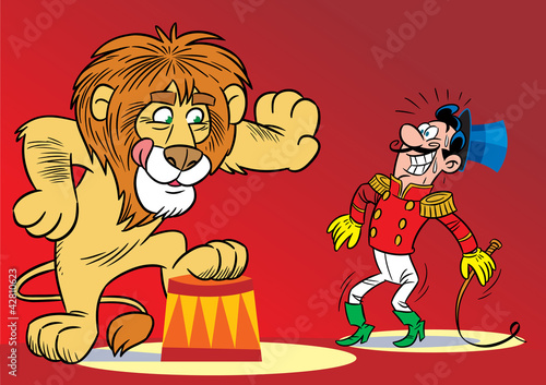 Lion in the circus