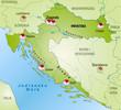 Landkarte von Kroatien als Infografik