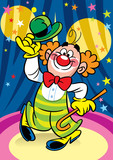 Clown in the circus poster