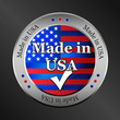 made in usa metallic vector button