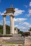 Restored Corinthian Temple in the ancient Roman ruin of Glanum poster
