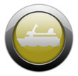"Yellow Metallic Orb Button ""Cruise Liner"""
