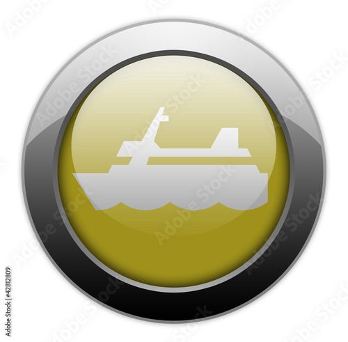 "Yellow Metallic Orb Button ""Cruise Liner"""