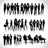 template of a group of business and office people