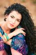 curly hair woman