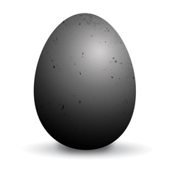 Icon of a black egg