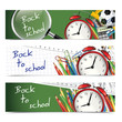 Back to school - vertical banners