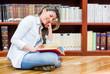 Woman enjoying reading