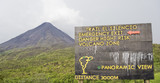Information sign in front of Volcano Arenal in Costa Rica