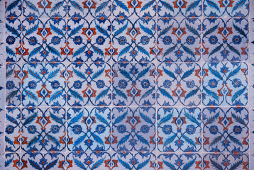 Ancient Iznik Tiles with Floral Pattern