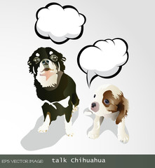 eps Vector image:talk Dog