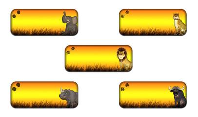Big Five Safari Banner Pack