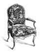 Seat style Louis XV - 18th century