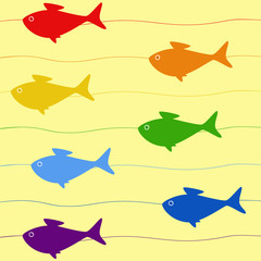 Rainbow fish background