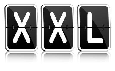 Fallblattanzeige XXL schwarz