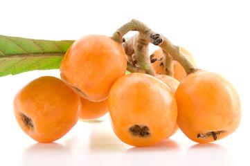 Medlar fruit isolated on a white background