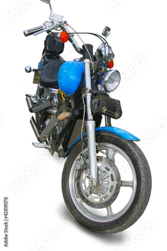 motorcycle on white background