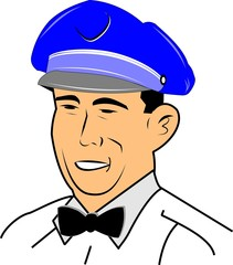 service employee from fifties