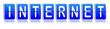 Fallblattanzeige INTERNET blau