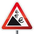 Schild Euro fällt