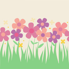 Flower background pattern in vector