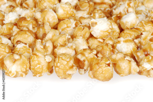 Pile of caramel candy popcorn
