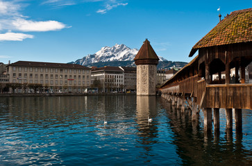 wooden Chapel Bridge of Lucerne