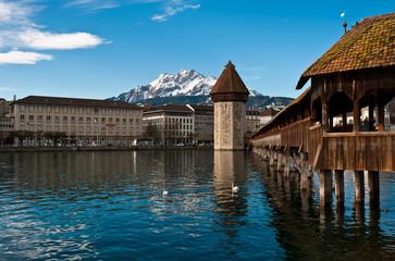 wooden Chapel Bridge of Lucerne