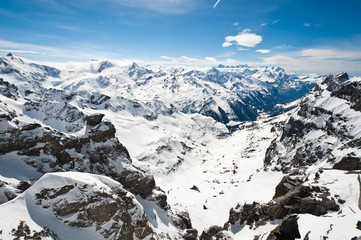 Panoramic view of Urner Alps