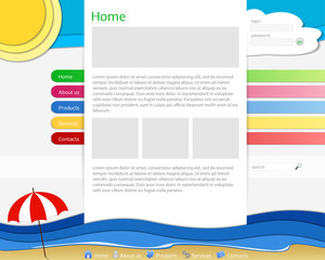 colorful sea website template - sitoweb