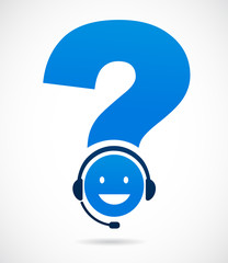 customer support with question mark