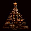 2013, sapin multilingue fond noir