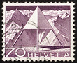 Postage stamp Switzerland 1949 Triangulation Point