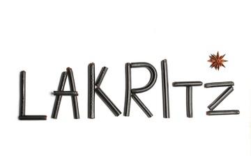 Lakritz Schriftzug aus Lakritz