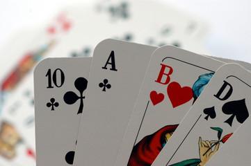 Kartenspiel, Glückspiel, Skat, Poker