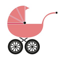 Baby carriage for the girl