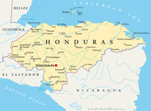 Honduras Kaart (Honduras Landkarte)